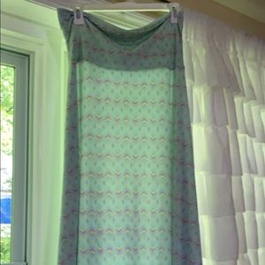 Lularoe maxi mint green with purple